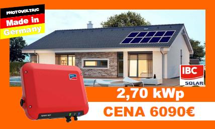 Solárne systémy 2,7 kWP