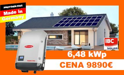 Solárne systémy 6,48 kWP