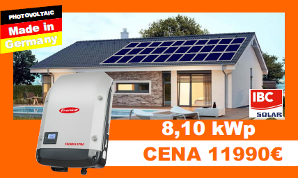 Solárne systémy 8,10 kWP