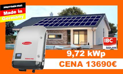 Solárne systémy 9,72 kWP